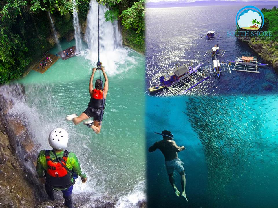 Canyoneering Kawasan Falls + Moalboal Island Hopping