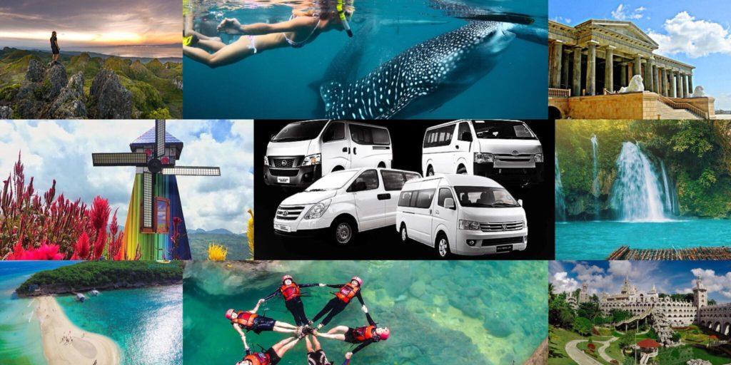 Van rentals in Cebu City.  Available itineraries are Oslob whale shark, Cebu city tour, Simala Cebu,  Kawasan Falls, Moalboal and many more
